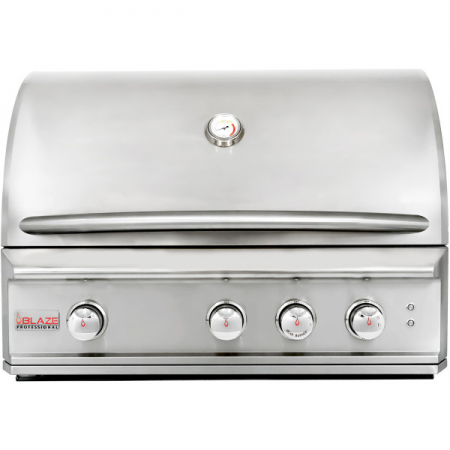 "Blaze Professional 34"" 3 Burner Built-In Gas Grill with Rear Infrared Burner"