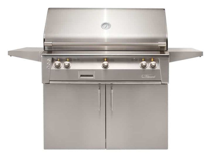 "Alfresco 42"" Freestanding Luxury Grill with Standard Cart"
