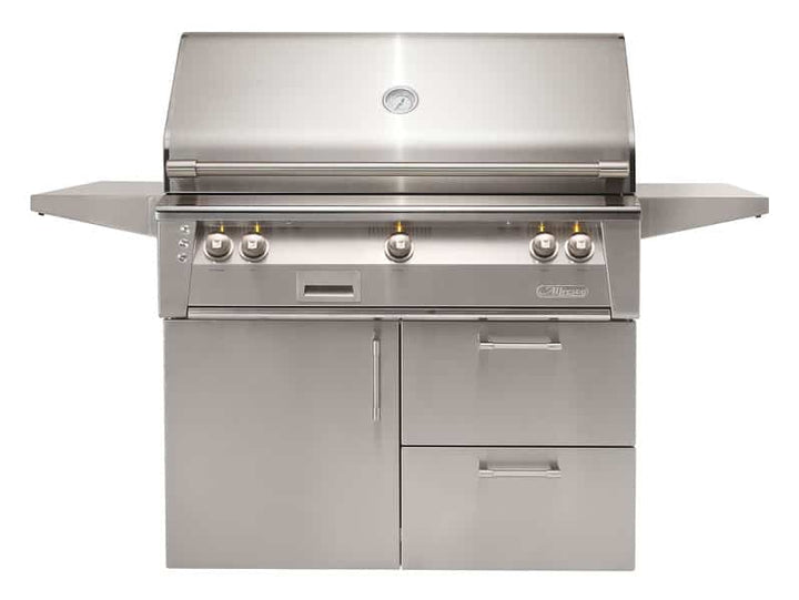 "Alfresco 42"" Freestanding Luxury Grill with Deluxe Cart"
