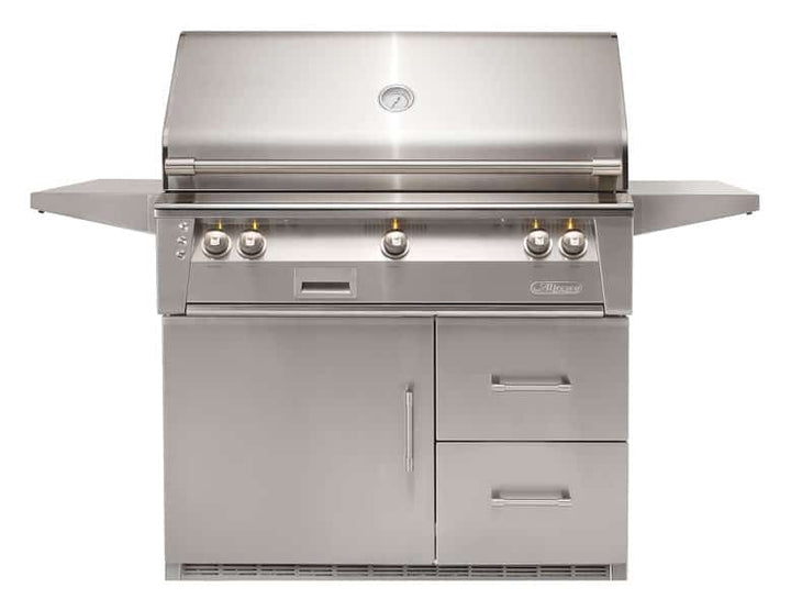 "Alfresco 42"" Freestanding Luxury Grill with Refrigerated Cart"