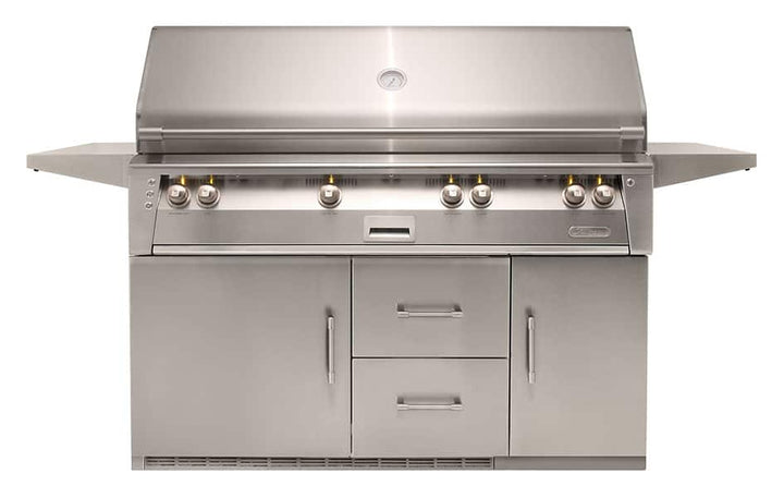 "Alfresco 56"" Luxury All-Grill with Refrigerated Cart"