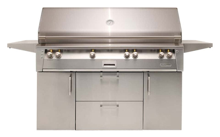 "Alfresco 56"" Luxury All-Grill with Standard Cart"
