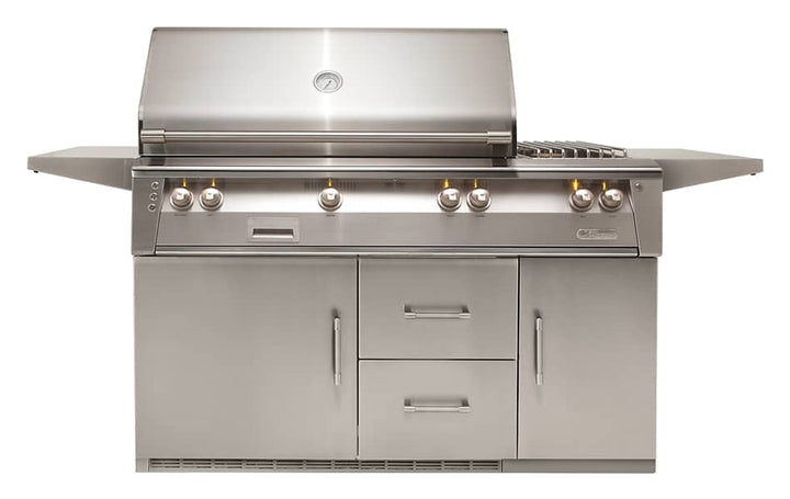 "Alfresco 56"" Freestanding Deluxe Grill with Refrigerated Cart"