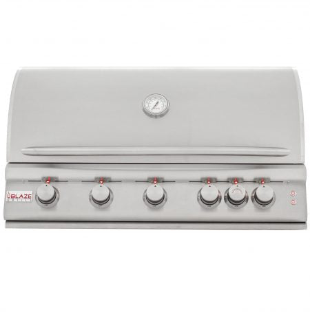 "Blaze 40"" 5 Burner LTE Grill with Rear Burner and Built-In-Lighting System"