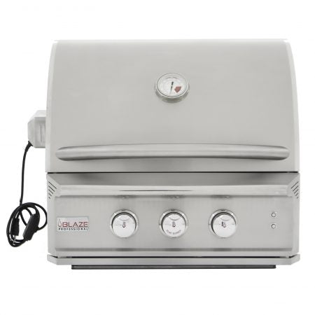 "Blaze Professional 27"" 2 Burner Built-In Gas Grill with Rear Infrared Burner"