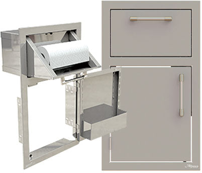 "Alfresco 17"" Door/Paper Towel Holder Combo"