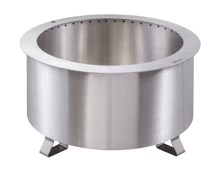"Breeo Double Flame 24"" Smokeless Fire Pit Stainless Steel"