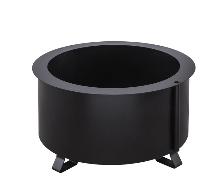"Breeo Double Flame 24"" Smokeless Fire Pit Steel"