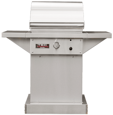"TEC 26"" Sterling Patio FR Grill On Stainless Pedestal w/ Side Shelves"