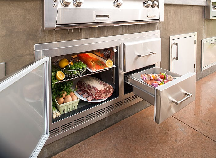 "Alfresco 42"" 7.25 Cubic Foot Under Grill Refrigerator"