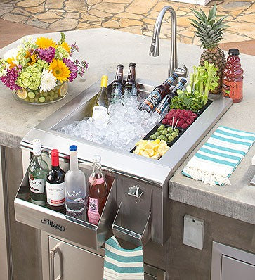 "Alfresco 24"" Versa Sink and Beverage Center"