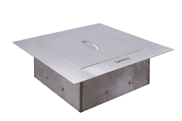 Breeo Zentro Square Fire Pit Stainless Steel