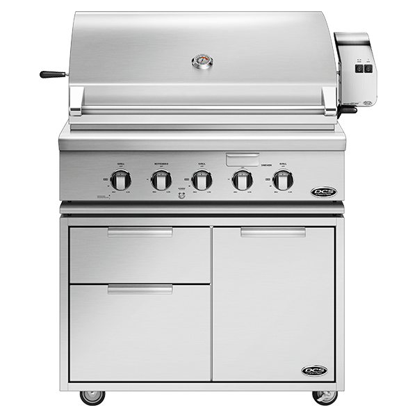 "DCS 36"" Traditional Grill With Rotisserie On Cart - BH1 Model 7 Series"