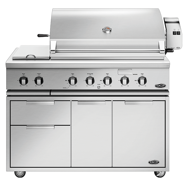 "DCS 48"" Traditional Grill With Rotisserie And Sideburner on Cart - BH1 Model 7 Series"