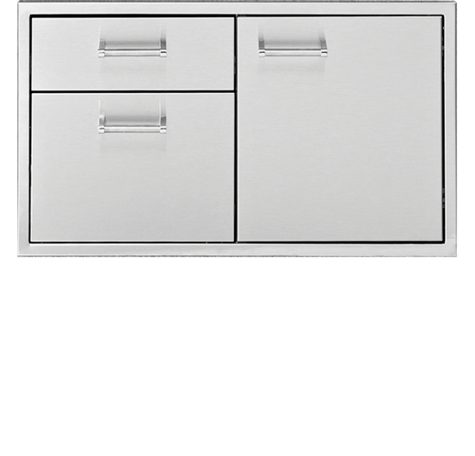 Delta Heat Door / Two or Three Drawer Combo
