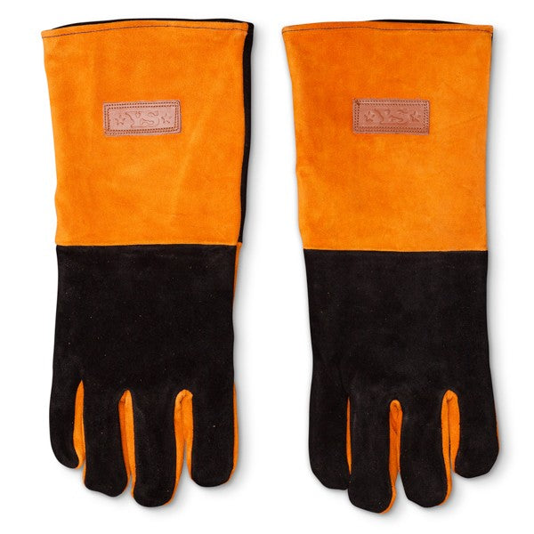 Yoder Long Leather BBQ Gloves