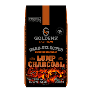 Golden's Cast Iron Hardwood Lump Charcoal