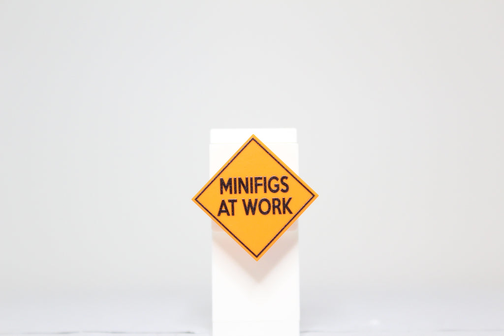 Minifigs At Work Sign 2x2