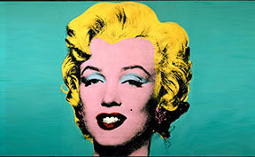 Oeuvre Turquoise Marylin par Andy Warhol pour le blog DIRVAL DESIGN