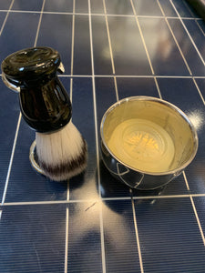 Shaving Brush, Brush Stand, Shaving Soap & Soap Bowl Set