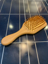 Load image into Gallery viewer, Hair Brush - Medium Size Bamboo W/ Natural Rubber Pad