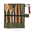 Bamboo Utensil Set w/ Carry Pouch