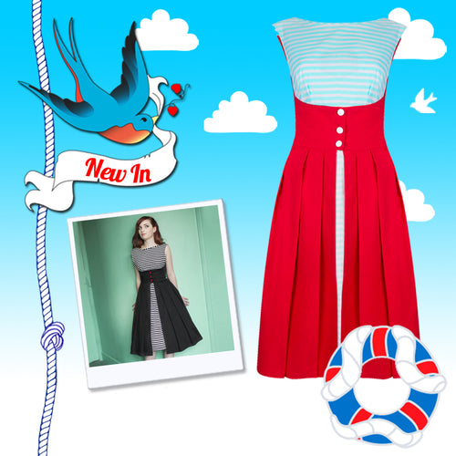 New In! Dollydagger Nautical Lulu Dress Plus Free Lucky Dip with Orders over £50