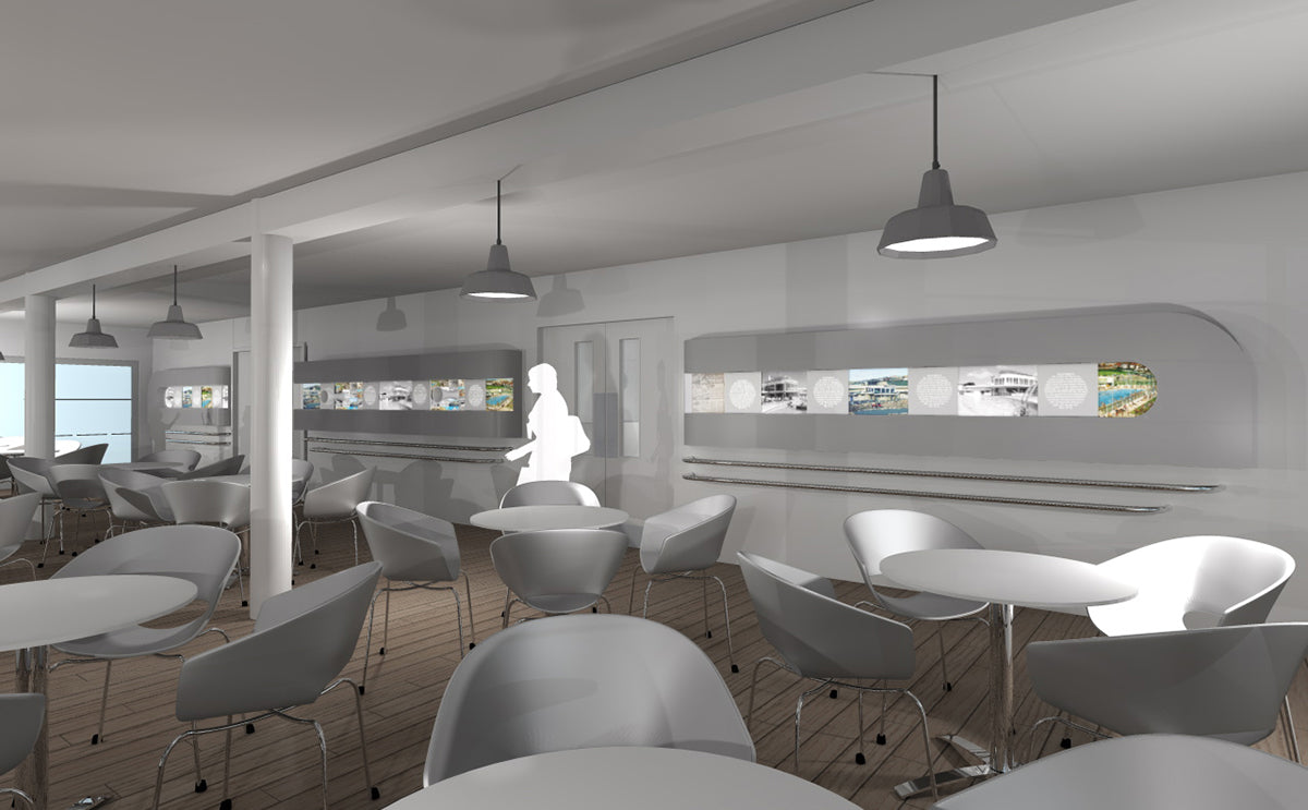 3D render of new Saltdean Lido Cafe
