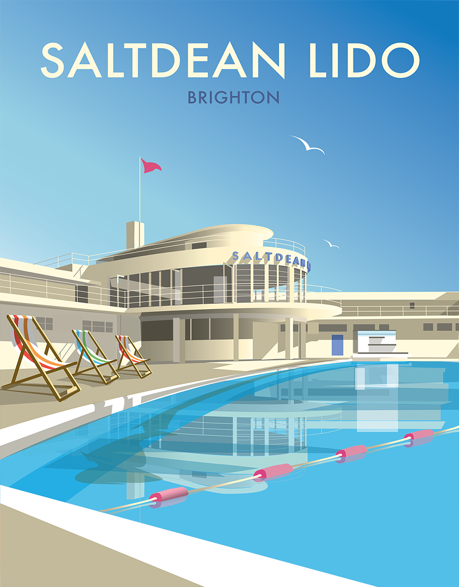 Saltdean Lido Print by Dave Thompson