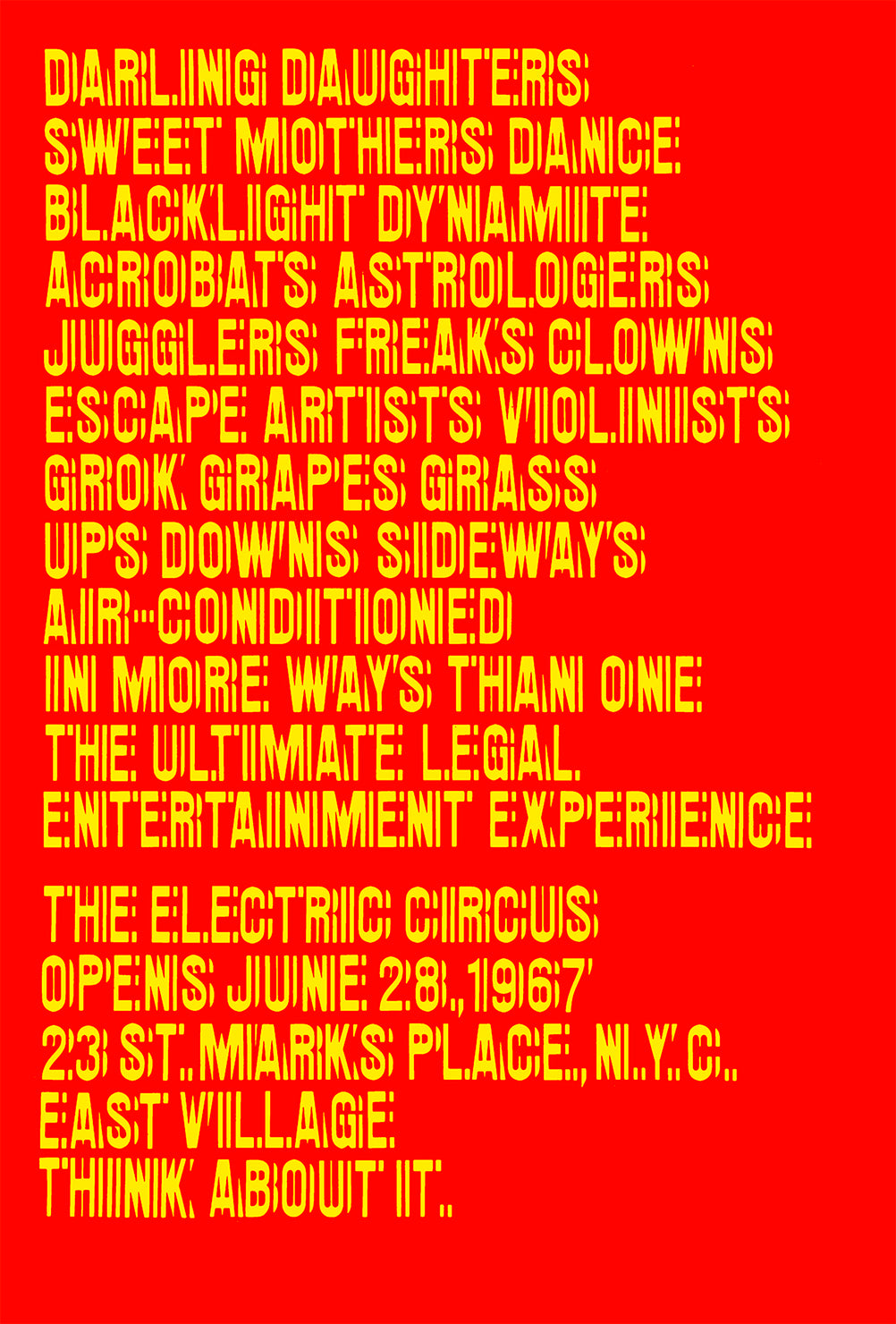 The Electric Circus, 1967 poster