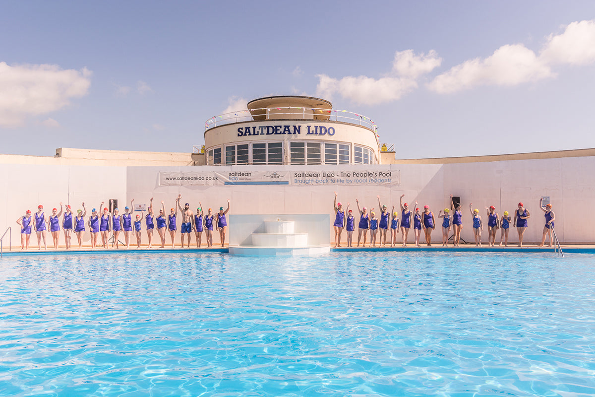 Brighton Swimming Club Synchronised Swimming at Saltdean Lido Opening