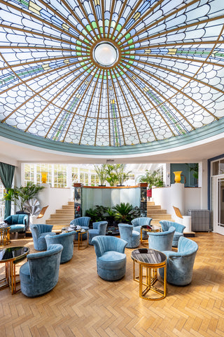 The Conservatory is a central focal point with a fantastic glass ceiling
