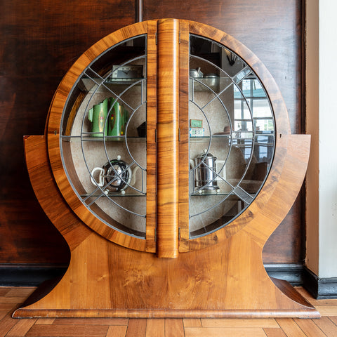 Art deco cabinet outside the dining room