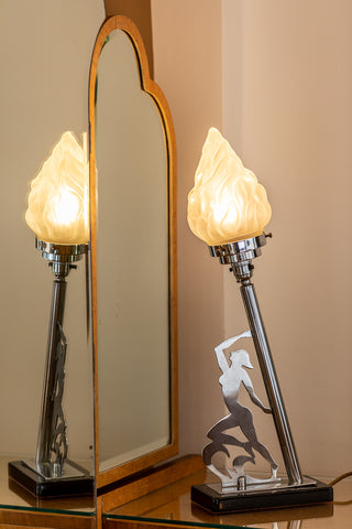 A desk lamp in the Bentley suite