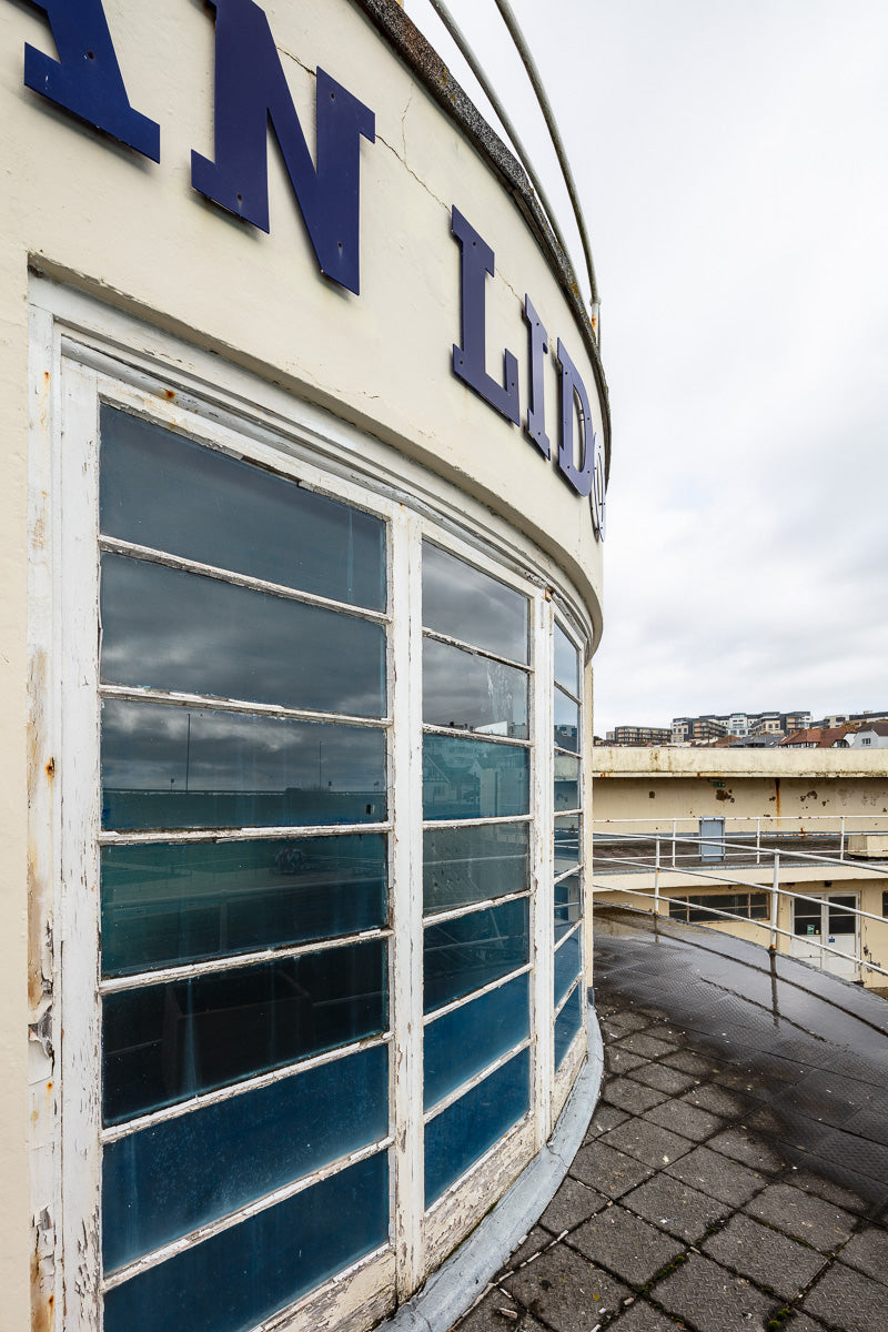 Saltdean Lido rotunda window