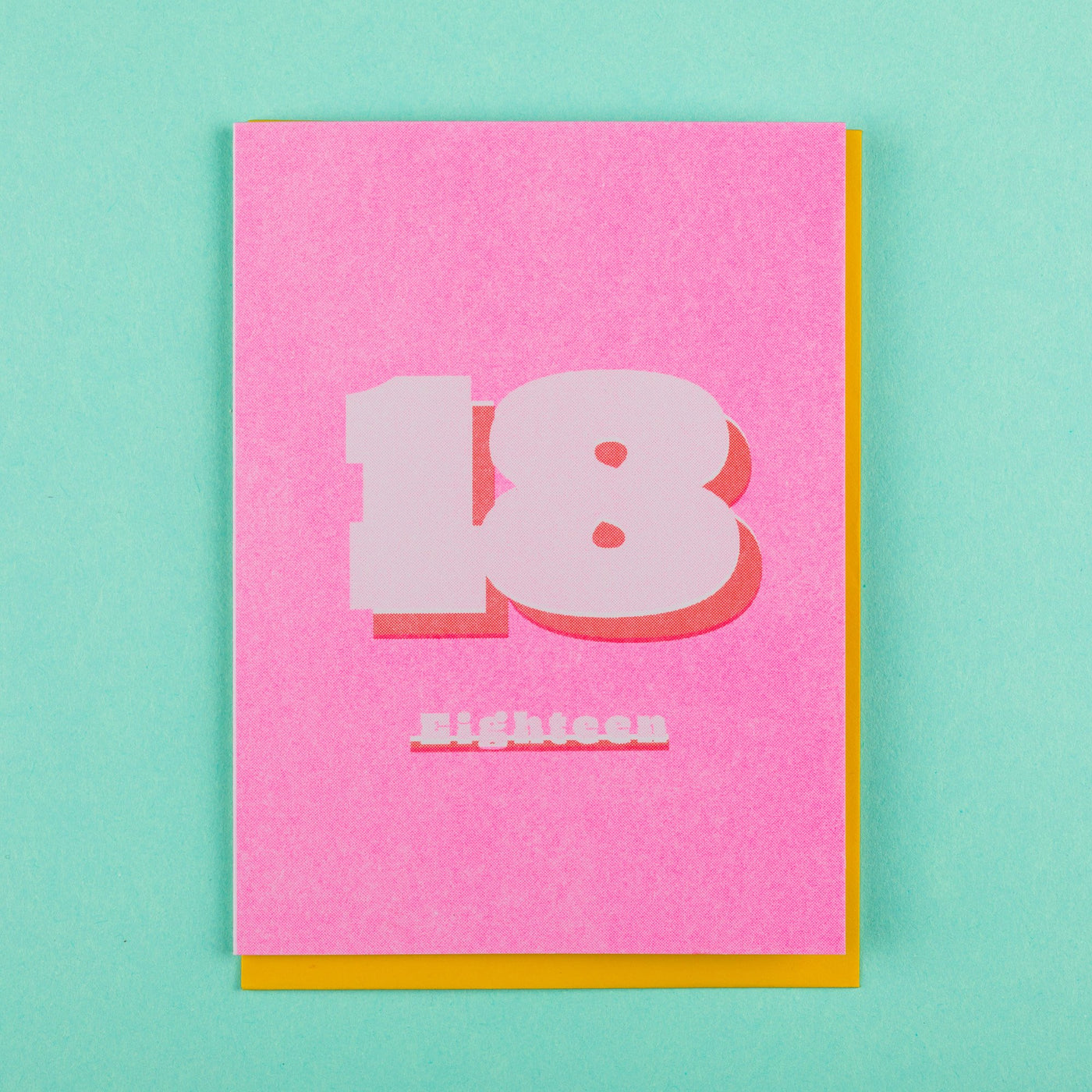 18th Birthday Card Risograph Printed