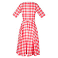 50s Fit and Flare Dress Coral Katie