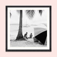 FA12746 Mind the Gap On the Beach Framed Print