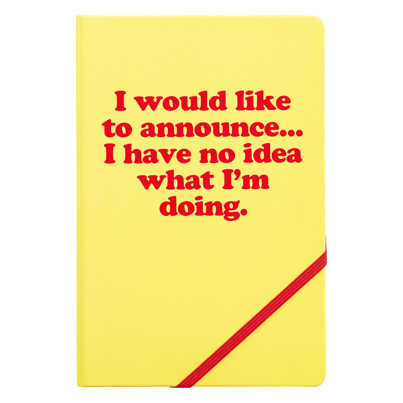 A5 Notebook I would Like to Announce Yes Studio