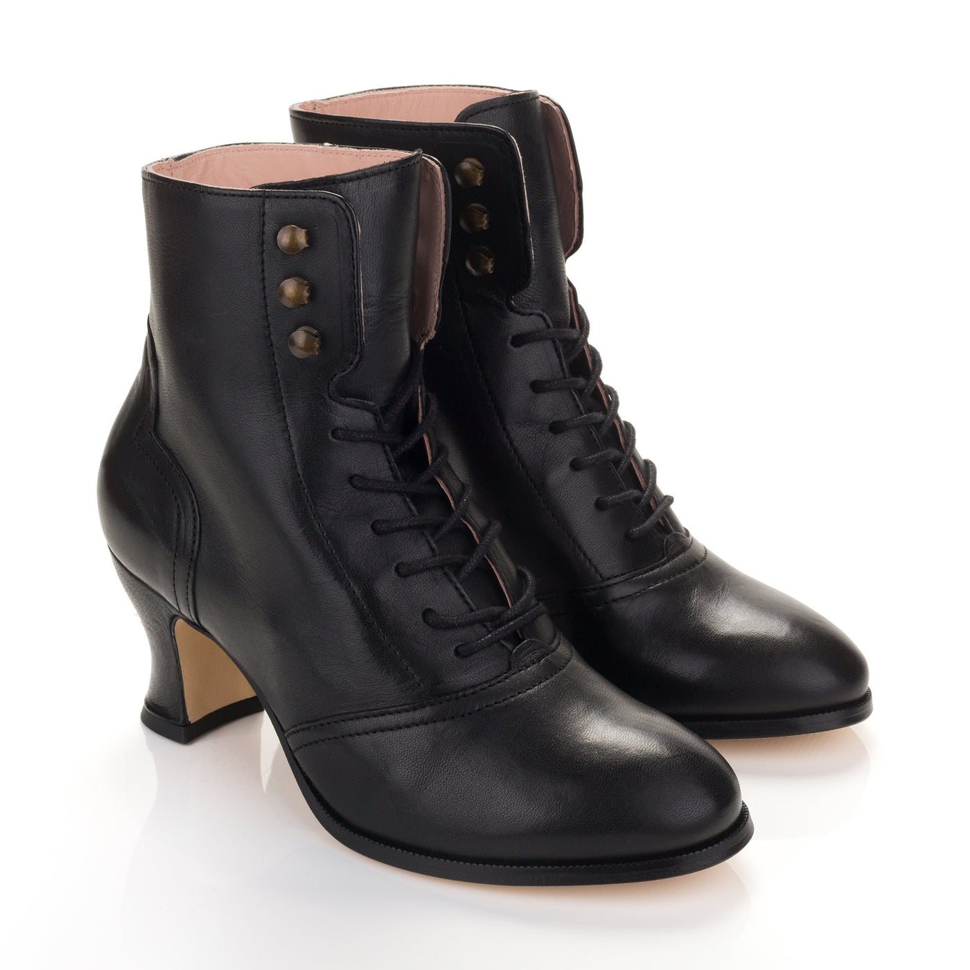 Alexa Black Lace Up Ankle Boots from Miss L Fire