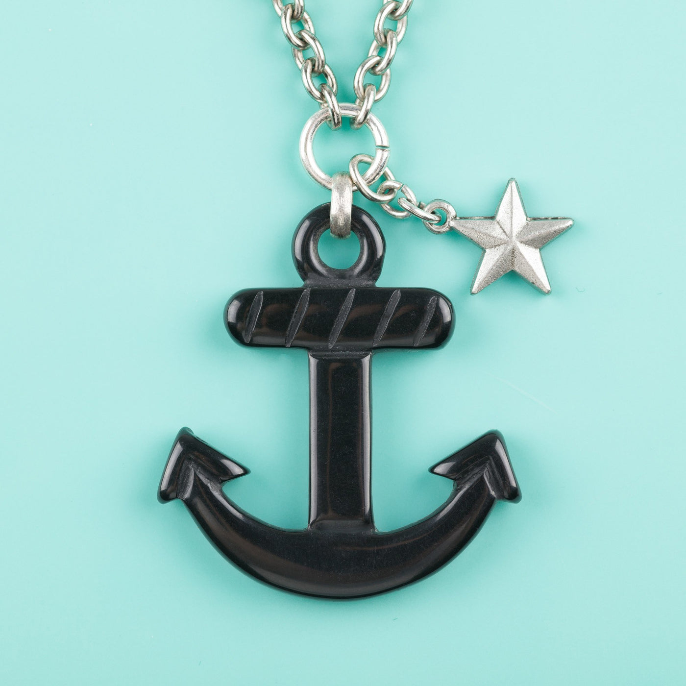 Anchor Charm Black Classic Hardware
