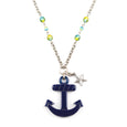 Anchor Pendant Necklace Navy Classic Hardware