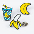 Banana Pin Badge Set