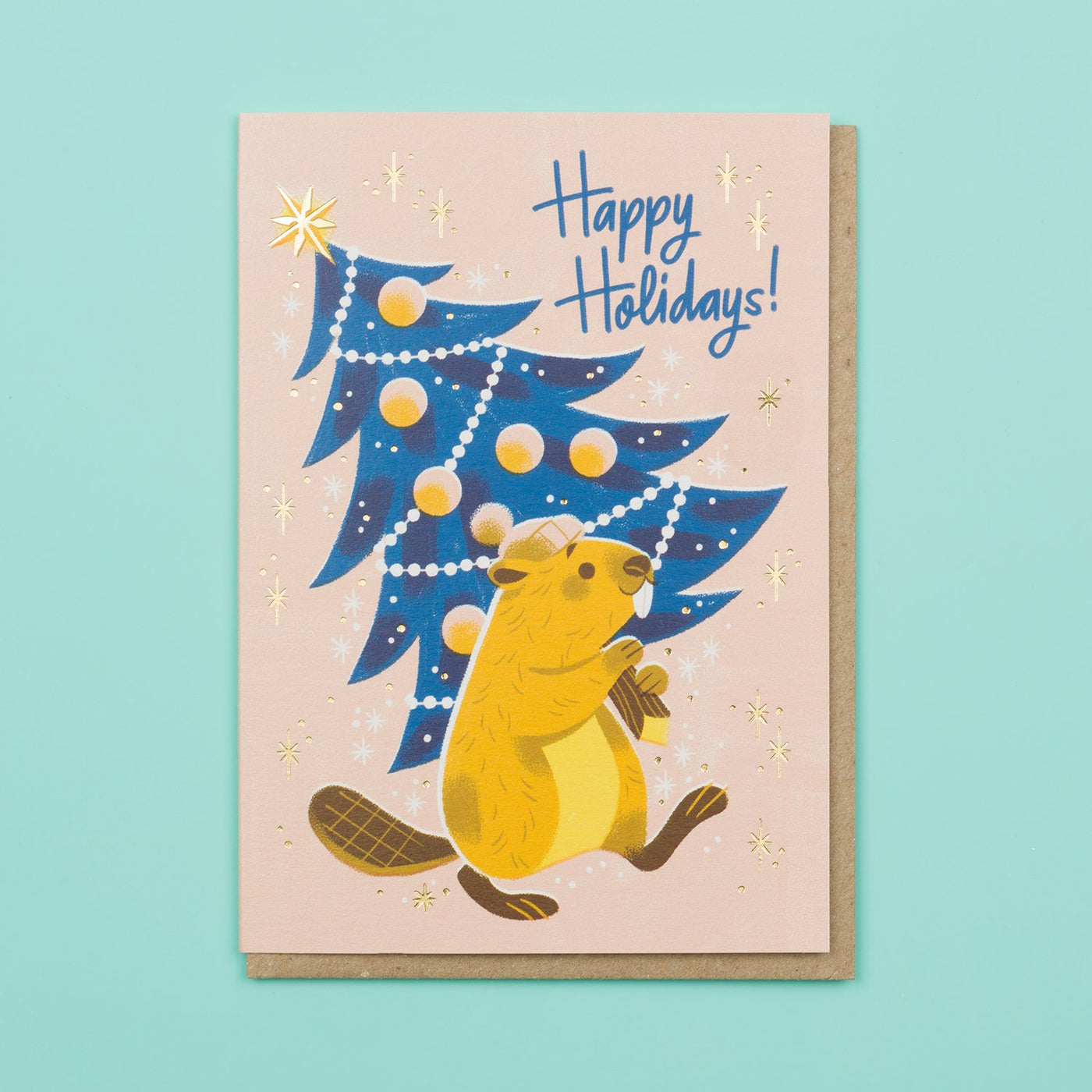 Beaver Christmas Card Ohh Deer