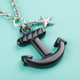 Black Anchor Necklace Classic Hardware