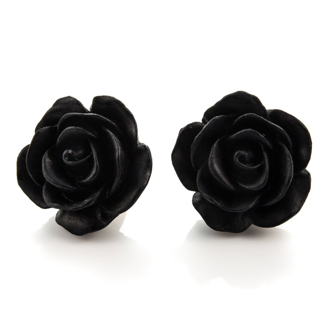 Black Rose Earrings by Dollydagger