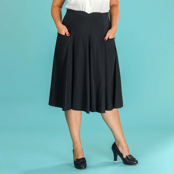 Black Swing Skirt Swirly Sweetheart Emmy Design