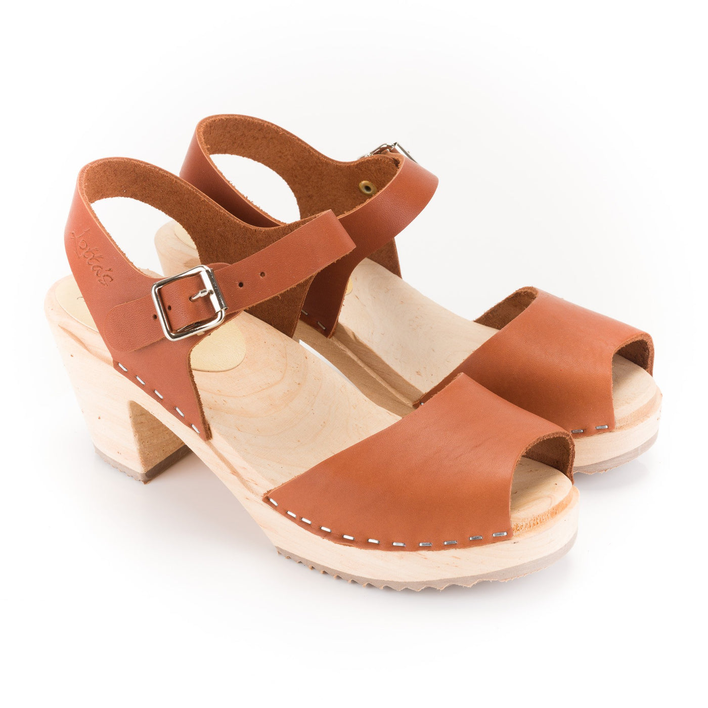 Brown Leather Clogs by Lotta from Stockholm at Dollydagger