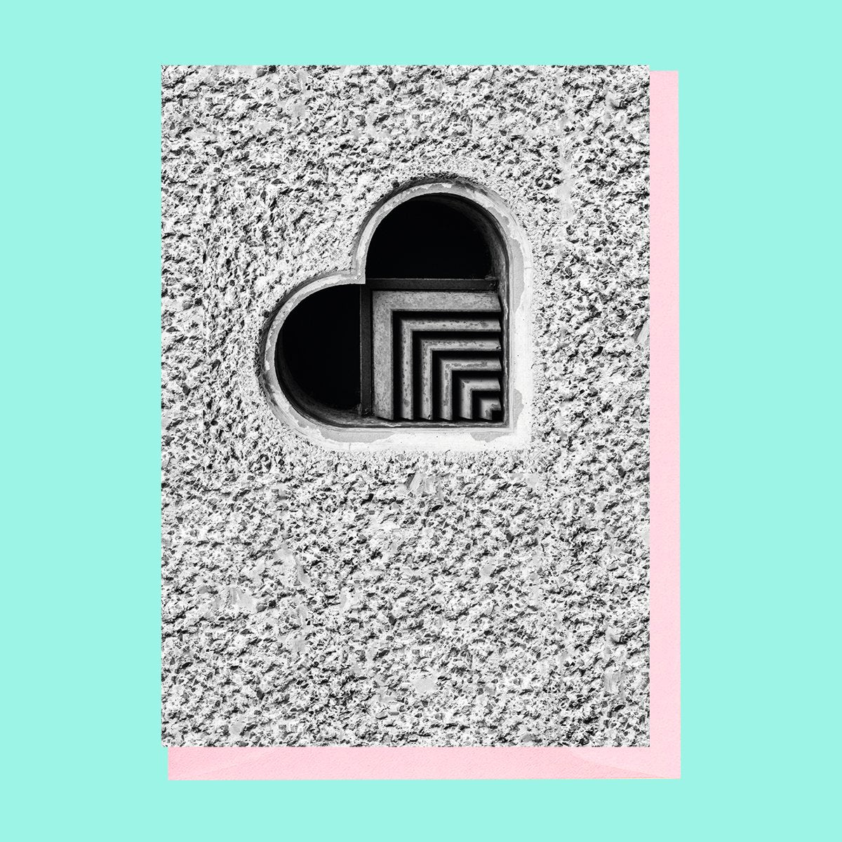 Brutalist Heart Valentines Card Nick Miners