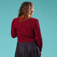 Burgundy 1940s Style Cardigan Emmy Design